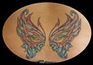butterfly custom color tattoo